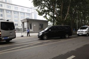 A minivan believed to be carrying disgraced Chinese…
