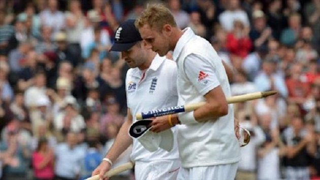 James Anderson, left, and Stuart Broad were outstanding against New Zealand at Lord's