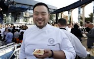 Korean-American chef David Chang -- the Korean-American chef named one of the world&#39;s 100 most influential figures by Time Magazine in 2010 -- drew crowds for his miso soup of fermented green French lentils, with black truffle