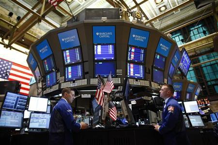 File photo of traders on the floor of the New York Stock Exchange
