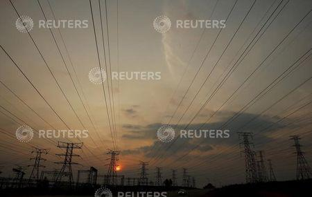 Eskom's electric pylons are pictured in Soweto