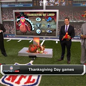 'NFL Fantasy Live': Who should you start on Thanksgiving?