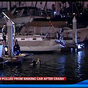 6AM UPDATE | Driver pulled from sinking car after crash