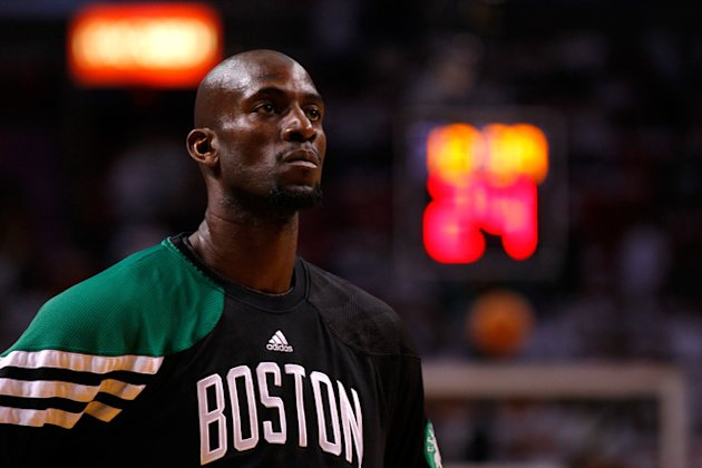   Kevin Garnett #5 Of The Boston Celtics Looks Getty Images