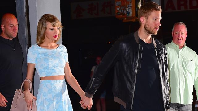 Taylor Swift Shows Some Serious Leg on Sleepover Date With Calvin Harris