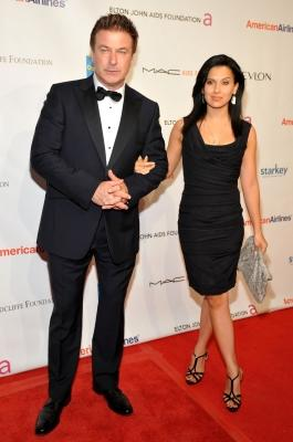 Alec Baldwin and Hilaria Thomas attend the 10th Annual Elton John AIDS Foundation's 'An Enduring Vision' benefit at Cipriani Wall Street, NYC, on October 26, 2011 -- Getty Images