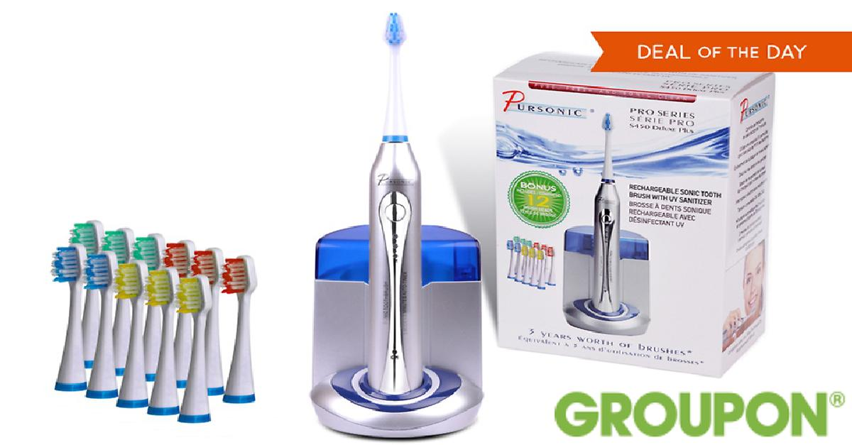 69% Off on Pursonic Deluxe Sonic Toothbrush