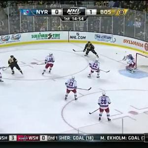 Henrik Lundqvist Save on Brad Marchand (05:07/1st)