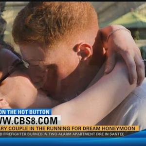 Military couple in the running for dream honeymoon