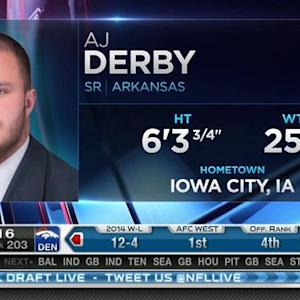 New England Patriots pick tight end AJ Derby No. 202 in 2015 NFL Draft