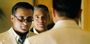Andy Garcia and George Clooney in Warner Bros. Pictures' Ocean's Thirteen