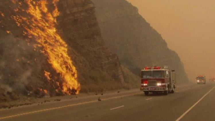California wildfires calmed