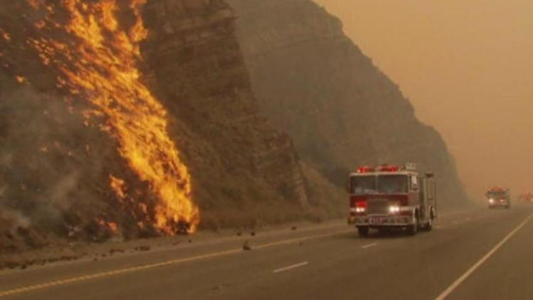 California wildfires calmed