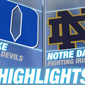 Duke vs Notre Dame | 2014-15 ACC Men's Basketball Highlights