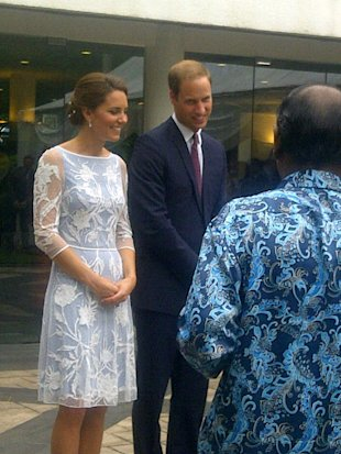 Kate Middleton's Second Outfit Of The Day Is A Blue Lace Dress By Alice Temperley