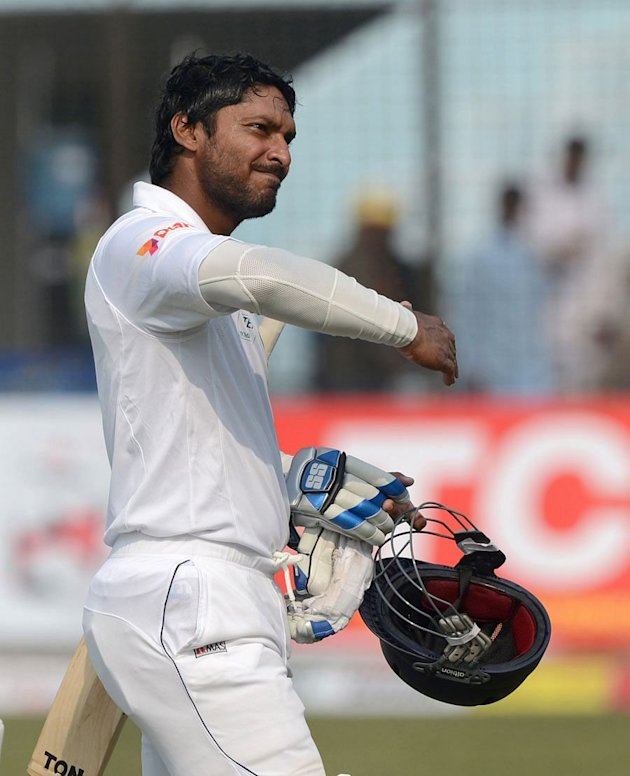 Kumar Sangakkara departs after scoring 319