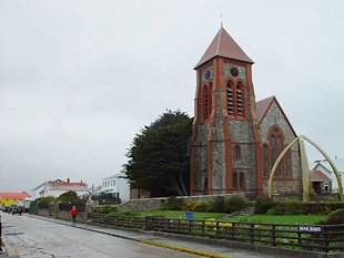 Catedral en Port Stanley. (Wofratz/Wikimedia Commons)