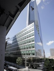 FILE - This June 29, 2011 file photo, shows the headquarters building of Goldman Sachs, in New York. Goldman Sachs Group Inc. posted a rare quarterly loss, performing worse than analysts had expected in the third quarter. (AP Photo/Richard Drew, File)