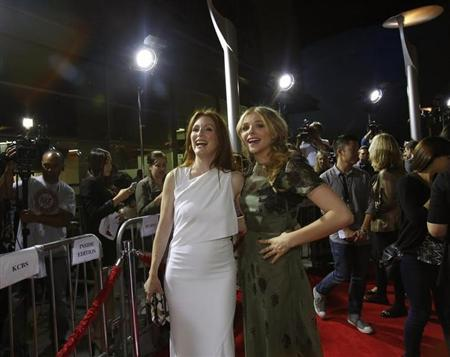 "Moore and Moretz poses at the premiere of ""Carrie"" in Los Angeles"