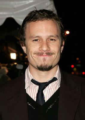 Heath Ledger at the NY premiere of Focus Features' Brokeback Mountain