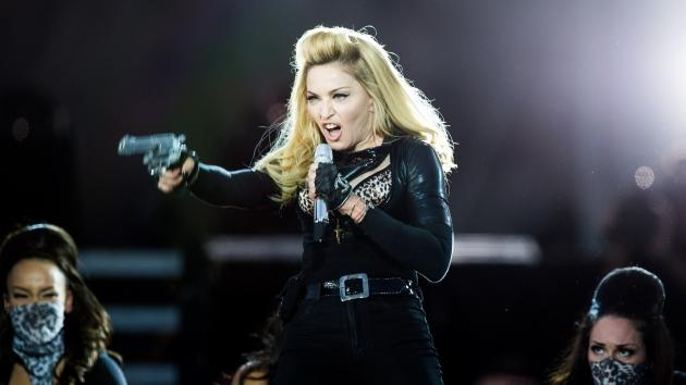 Madonna performs during the opening night of the UK leg of her MDNA Tour in Hyde Park in London on July 17, 2012  -- Getty Premium