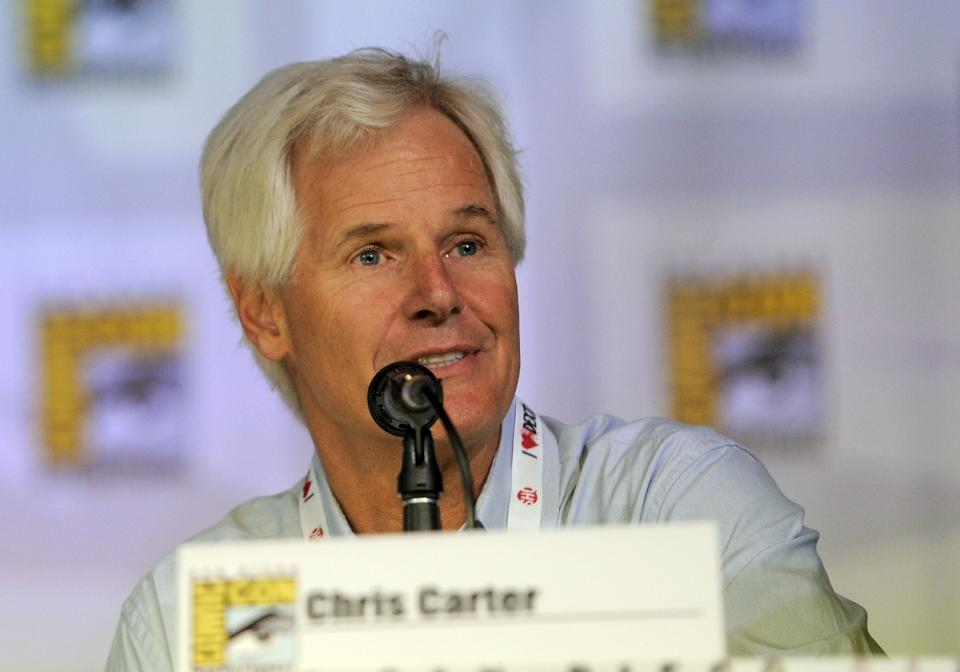 "Chris Carter attends the ""The X Files"" 20th Anniversary panel on Day 2 of Comic-Con International on Thursday, July 18, 2013 in San Diego, Calif. (Photo by Chris Pizzello/Invision/AP)"