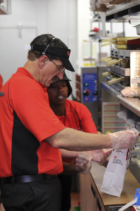 CEO Rick Silva is an Undercover Boss at Checkers.