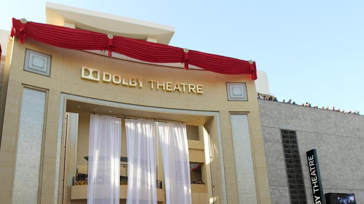 COMMERCIAL IMAGE - In this image provided by Dolby Laboratories, The first reveal of the Dolby Theatre on Monday June 11, 2012 in Los Angeles. (Photo by Matt Sayles/Invision for Dolby)