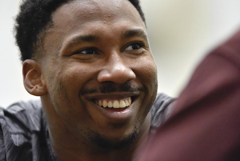 No. 1 overall pick Myles Garrett signed his contract with the Cleveland Browns on Friday. (AP)