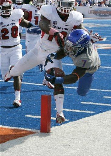 No. 24 Boise St knocks off Fresno State 20-10