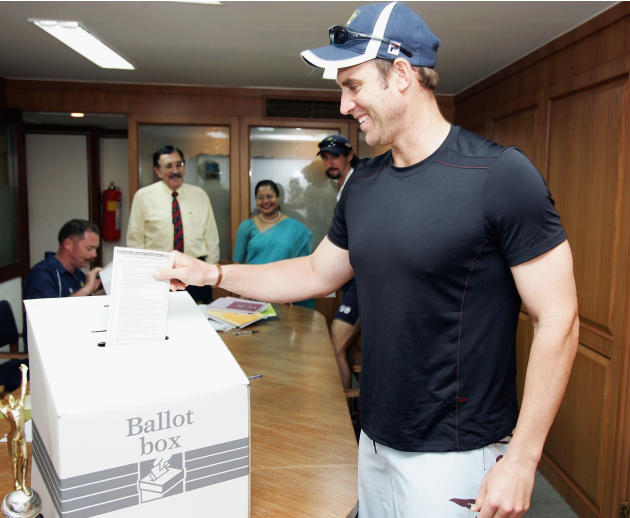 Australian Cricketers Vote In Federal Elections Whilst In India
