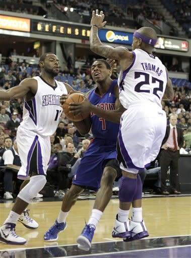Stuckey, Monroe lead Pistons past Kings 124-112