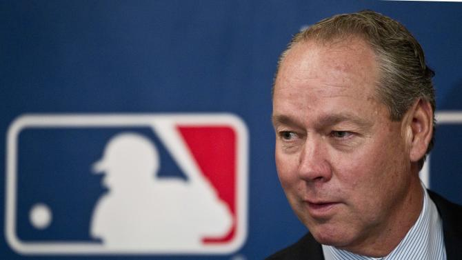 Jim Crane addresses the media during a news conference after the baseball owner's meeting Thursday, Nov. 17, 2011, in Milwaukee. Baseball owners unanimously approved the sale of the Houston Astros from Drayton McLane to Crane. The Astros will move from the NL Central to the AL West beginning in the 2013 season, giving each league 15 teams. (AP Photo/Morry Gash)