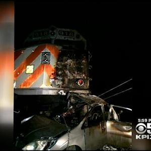 Driver Survives After GPS Leads Him In Front Of Speeding Caltrain In Atherton