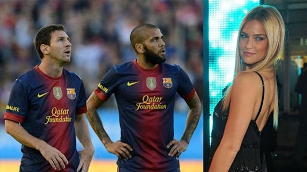 Dani Alves Lionel Messi Bar Rafaeli 2012