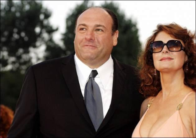 Susan Sarandon and James Gandolfini seen during Venice Film Festival in 2005 -- Getty Premium