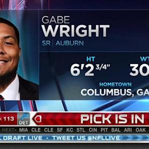 Detroit Lions pick defensive tackle Gabe Wright No. 113 in 2015 NFL Draft