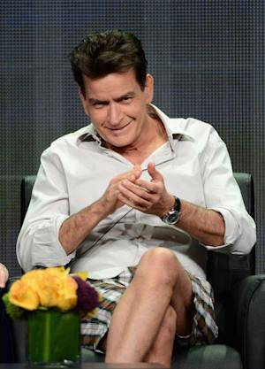 Charlie Sheen speaks onstage at the 'Anger Management' panel during the FX portion of the 2012 Summer TCA Tour, Beverly Hills, on July 28, 2012 -- Getty Images