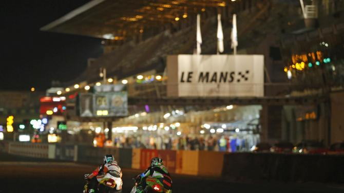 Riders compete during the 37th Le Mans 24 Hours motorcycling endurance race in Le Mans