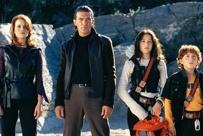 Carla Gugino , Antonio Banderas , Alexa Vega and Daryl Sabara in Dimension's Spy Kids 2: The Island of Lost Dreams