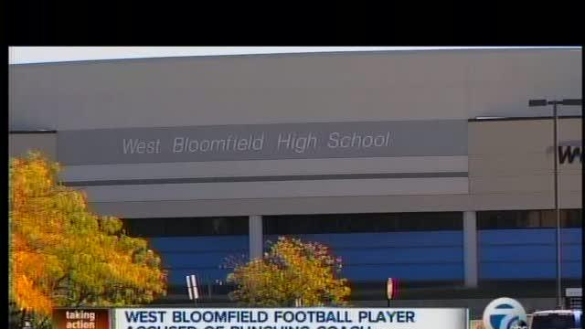 West Bloomfield football player accused of punching coach