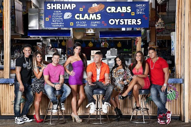 This undated image released by MTV shows the cast of &quot;Jersey Shore,&quot; from left, Paul &quot; DJ Pauly D&quot; Delvecchio, Deena Nicole Cortese, Vinny Guadagnino, Jenni &quot;JWOWW&quot; Farley, Mike &quot;The Situation&quot; Sorrentino, Nicole &quot;Snooki&quot; Polizzi, Sammi &quot;Sweetheart&quot; Giancola and Ronnie Magro in Seaside Heights, N.J. MTV gave the last call for &quot;Jersey Shore&quot; on Thursday, Aug. 30, saying the raucous reality show will conclude after its upcoming sixth season, which begins Oct. 4. The series, whose roots lay in a party house in Seaside Heights, N.J., gave rise to such stars as Nicole &quot;Snooki&quot; Polizzi and Mike The Situation Sorrentino, while popularizing the terms &quot;guido&quot; and &quot;guidette.&quot; (AP Photo/MTV, Ian Spanier Photography)