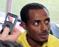 Ethiopia distance star Kenenisa Bekele in Edinburgh in January. Running legend Bekele spearheads a group of Ethiopian runners seeking to nail down berths at this month's Olympic Games in London in the coming days