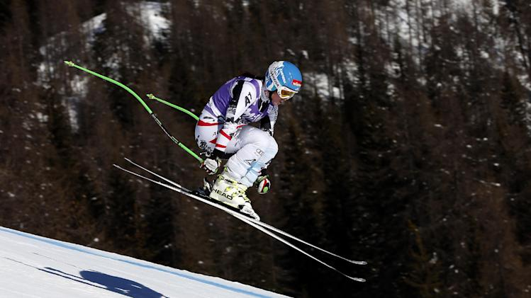 Goergl wins super-G, shows off form for Sochi