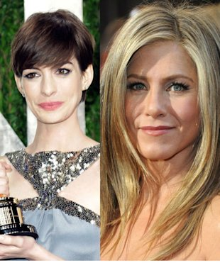 Bet She's Hacked Off! Anne Hathaway Beats Jennifer Aniston In Influential Hairstyle Poll