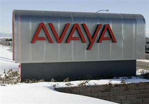 The sign at Avaya Inc. offices and lab in Westminster, Colorado is seen