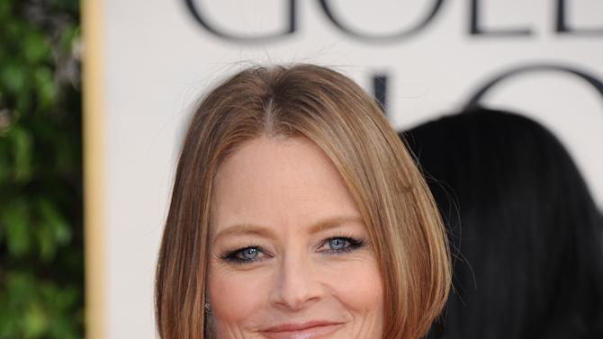 Actress and filmmaker Jodie Foster arrives at the 70th Annual Golden Globe Awards at the Beverly Hilton Hotel on Sunday Jan. 13, 2013, in Beverly Hills, Calif. (Photo by Jordan Strauss/Invision/AP)