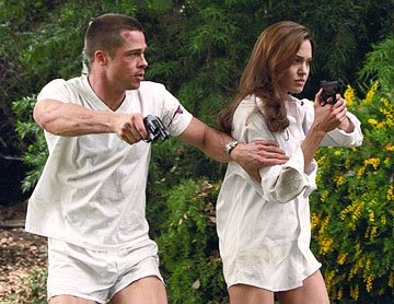 Brad Pitt and Angelina Jolie in 20th Century Fox's Mr. &amp; Mrs. Smith