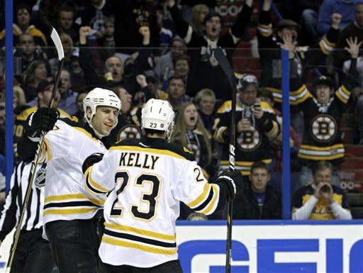 Marchand scores 2 to lead Bruins over Blues 4-2