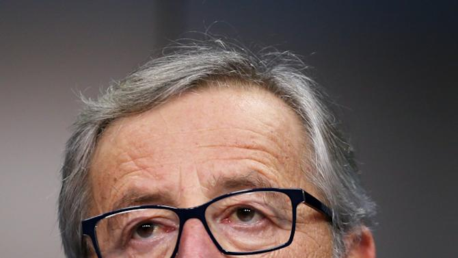 EU Commission President Juncker addresses a news conference following a EU leaders summit in Brussels
